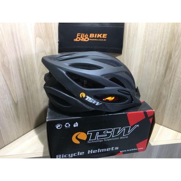 Capacete Tsw Plus Mtb C/led Tamanhos E Cores Filé Bike